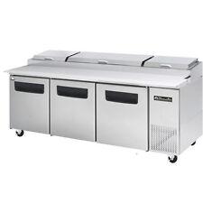 Blue Air Bapp93 Three Door Pizza Prep Table 93 Inches Refrigerator Refrigeration