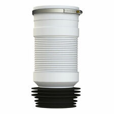 """WC FLEXIBLE WC TOILET WASTE BACK TO WALL BTW PAN SOIL 4"""" + HOSE CLIP PP0002/E"""
