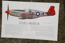 Tuskegee Airmen, Lee Archer and Roscoe Brown, Aviation Art Prints, Ernie Boyette