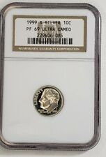 New listing 1999 S Proof Roosevelt Silver Dime 10C Ngc Pf69 Ultra Cameo older holder