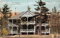 """Indiana In Postcard 1909 MICHIGAN CITY The """"HERMITAGE"""" Building"""