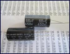 Yageo Elko condensador radial 68 µf 450 V 105 ° 16x31mm ra.7, 5 2 unid.