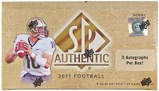 2011 Upper Deck SP Authentic Football Factory Sealed Hobby Box - 3 Autos Per Box