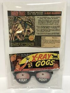 Vintage Horror Monster  Comic Premium Mailaway X-Ray Gogs W/ AD