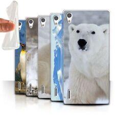 Housses et coques anti-chocs Huawei Ascend P7 en silicone, caoutchouc, gel pour téléphone mobile et assistant personnel (PDA)