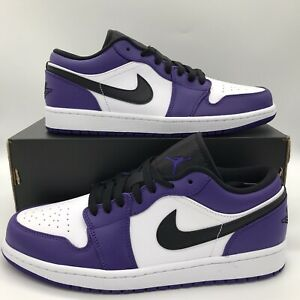 Nike Air Jordan 1 Low Court Purple White 553558-500 / 553560-500 Mens Size Retro