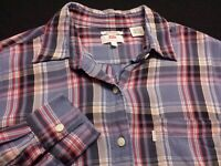Levi's Womens Small Long Sleeve Button-Front Multicolor Plaid Flannel Shirt