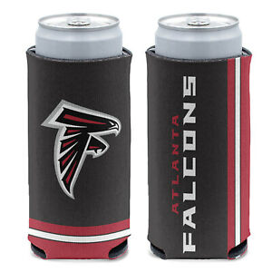 Licensed Double Sided Football 12 oz Atlanta Falcons Slim Can Cooler Koozie