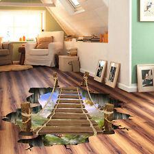 Wasserdicht Wandtatoo 3D Hängede Leiter Muster Fußboden Wand Aufkleber Sticker