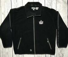CCM NHL Hockey Los Angeles Kings Fleece Jacket Full Zip Black Xtra Large XL 1735