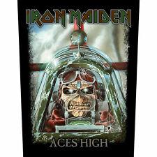 IRON MAIDEN official Backpatch ACES HIGH Rückenaufnäher British Heavymetal Eddie