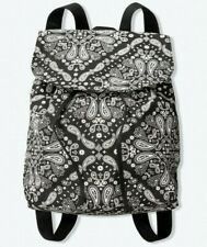 NEW Victoria Secret PINK Mini Backpack Canvas Black / White New In Package