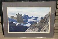 Charles Gause Bald Eagle Nest Mountain Large Framed Print Signed Lt. Edition