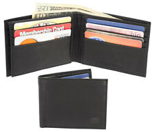 Men's Leather wallet, Mens Bilfold, Mens Florsheim Passcase Wallet 50000, Black