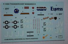 1/48ème  DECALS pour F-105D THUNDERCHIEF  -  REVELL MONOGRAM 1999  -  NEUF