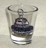 SEATTLE SEAHAWKS SUPER BOWL 48 XLVIII champions CHAMPS shot GLASS NY NJ
