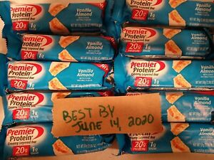 40-  Premier Protein Bar Vanilla Almond 20g Protein/1g Sugar 06/14/2020
