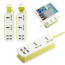Power Strip Surge Protector 1.5m Extension Cord W/ 4 USB Port Travel US/EU Plug