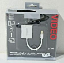 Vivanco Mini DisplayPort HDMI Adapter Computerkabel Apple MacBook Audio (X117)