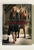 Damages: Complete Third Season (DVD 2011 Widescreen 3-Disc Set) Sealed US Seller