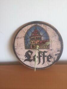 Mancave / Home bar, pub clock -  Leffe beer