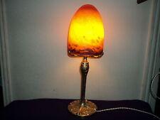 lampe pied bronze dlg leleu obus pate de verre art deco:nouveau no daum muller
