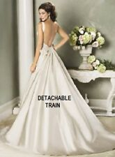 MAGGIE SOTTERO 💕 $1199 MARILYN IVORY 8 OPEN BACK DETACHABLE TRAIN WEDDING DRESS