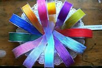 LightWeight Shimmer MESH Blended Ribbon 38mm-3 Metres 12Colour Mix Choice LRD2 3