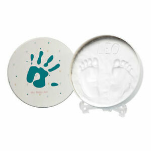 Baby Art Magic Box Round Hand Footprint Cast