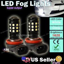 2 pcs H11 H9 High Power LED Fog Driving Light Bulb Xenon White Projector Lens