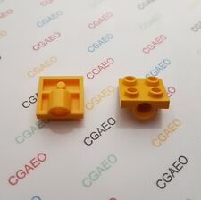 2 X  Lego Technic 2444 Plate, Modified 2 x 2 with Hole - Yellow