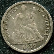 1877 T2 REV (XF) 10C SILVER SEATED LIBERTY DIME
