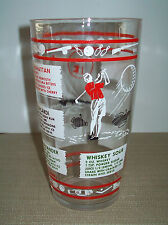 Large Vintage Mid Century Sports - Themed Glass Bar Drinks Shaker Base Vguc!