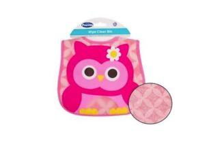 Premia Baby Waterproof Wipe Clean Bib, 0+ Months, Oink Owl Design, 2 Pack