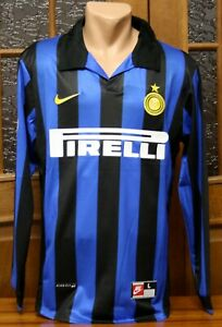 Inter Milan Home Football Shirt Jersey Long Sleeve Ronaldo #9