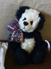 "Jackie Melerski Bear Essentials Artist Mohair Teddy Bear Panda 13"""