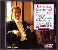 Neville MARRINER: TCHAIKOVSKY Symphony No.5 Francesca da Rimini CD Tschaikowski