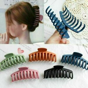 Lady Frosted Hair Claws Clips Large Size Acrylic Hair Clamps Women Accessories
