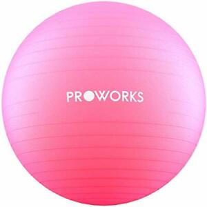 PINK Anti-Burst Fitness Ball 65cm with Pump Exercise Yoga Swimming Stability PRO