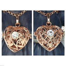 Modeschmuck-Halsketten & -Anhänger im Medaillon-Stil aus Strass mit Herz-Schliff