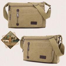 Men Canvas Shoulder Bag Handbag Outdoor Travel Bag Messenger Crossbody Bag Women