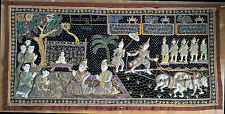 Wunderbarer Pailletten Wand Teppich Thailand Sequins Tapestry Chiang Mai Asia
