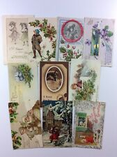 Lot of 10 Antique Vintage Christmas New Years Postcards - Holidays, Tucks Xmas