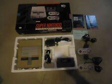 Super Nintendo SNES Set Console System Box Super Mario World #H1
