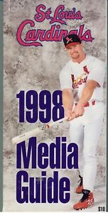 SPORTS (1998) MEDIA GUIDE St Louis Cardinals (Mark McGwire Cover)