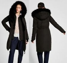Zara Quilted Coats & Jackets Hood for Women