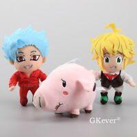 Anime Seven Deadly Sins Toys Hawk Meliodas Sin of Wrath Greed Ban Fox Plush Toys
