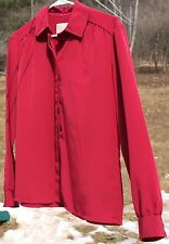 Women's Burgundy Blouse by Country Sophisticates; Size 14