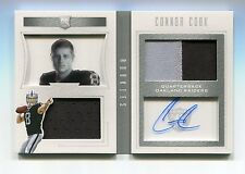 Connor Cook Auto Jersey Patch Booklet RC /75 2016 Playbook #122 Spartans Raiders
