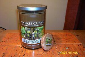 yankee candle 22oz TUMBLER TREEHOUSE MEMORIES + 1 TART